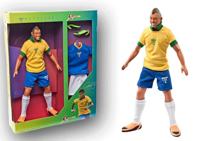 Neymar boneco montagem (Foto: Divulgação / Site Oficial)
