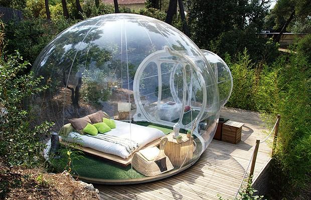 As bolhas são opção mais confortável ao acampamento (Foto: Divulgação)