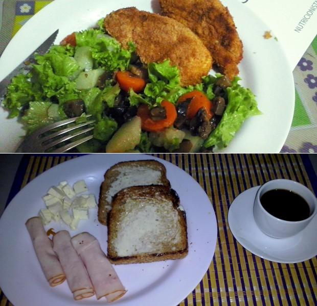 Gislaine faz refeições balanceadas, que incluem alimentos integrais e muitas verduras e legumes (Foto: Gislaine D'Aro/Arquivo Pessoal)