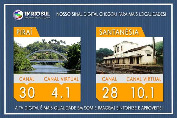 Piraí e Santanésia recebem o sinal digital da TV Rio Sul (Foto: TV Rio Sul)