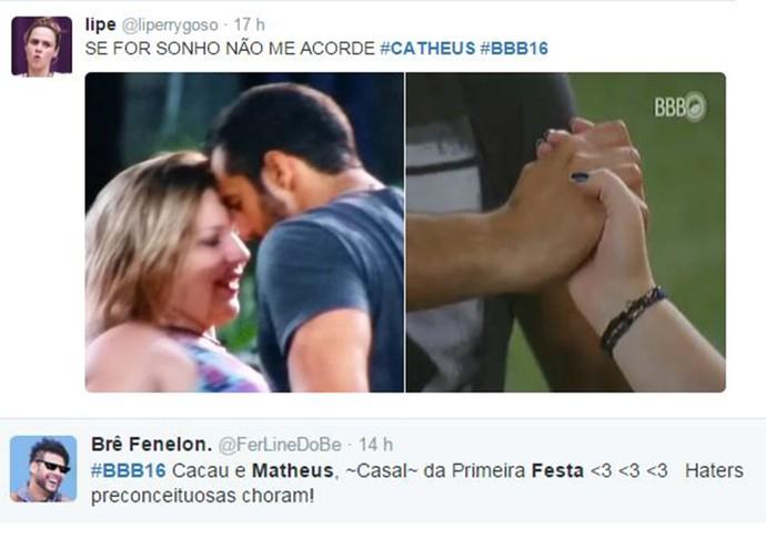 Comentários Matheus e Maria Claudia BBB16 (Foto: Reprodução Internet)