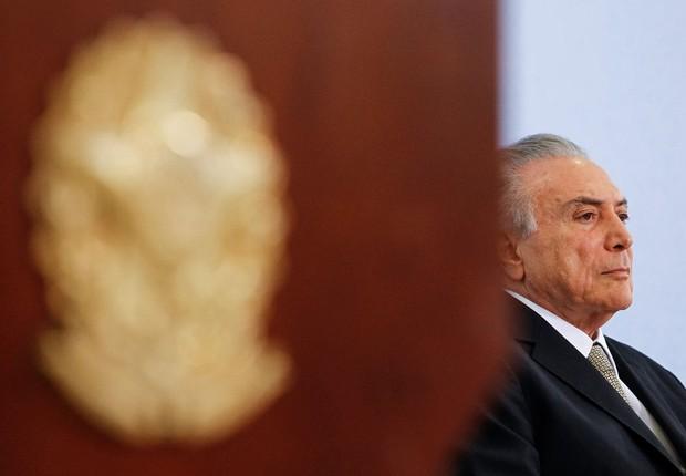 O presidente interino Michel Temer em cerimônia de recepção da tocha paralímpica (Foto: Beto Barata/PR)