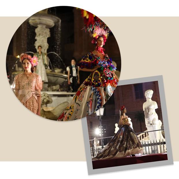 24h de Dolce & Gabbana com Kamila Hansen (Foto: Fashion to Max e Reprodução/ Instagram)