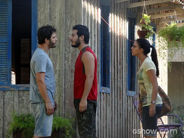 William e Matias se enfrentam (Foto: Além do Horizonte/TV Globo)