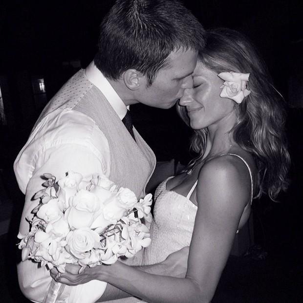 Gisele Bündchen e Tom Brady no casamento em 2009 (Foto: Reprodução/Instagram)