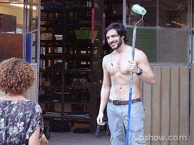 Herval também fica impressionado ao reencontrar Verônica (Foto: Geração Brasil / TV Globo)
