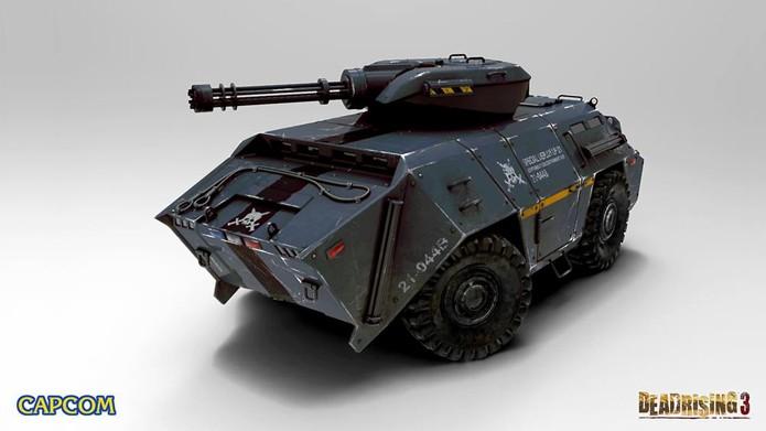 Veículo blindado com metralhadora causará um estrago contra os mortos-vivos (Foto: VG247)