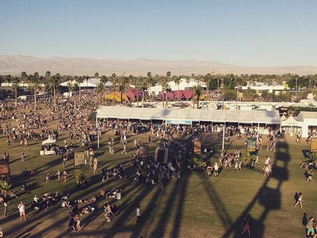 O festival de 'Coachella' foi um dos pontos da atriz na Califórnia (Foto: Arquivo Pessoal)