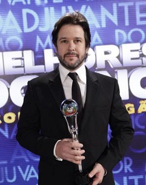 Murilo Benício saboreia vitória (Foto: Domingão do Faustão/TV Globo)