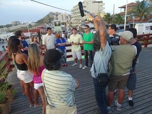 Jovens descendentes dos pescadores participam do filme (Foto: Divulgação / Alessandra Rezende)