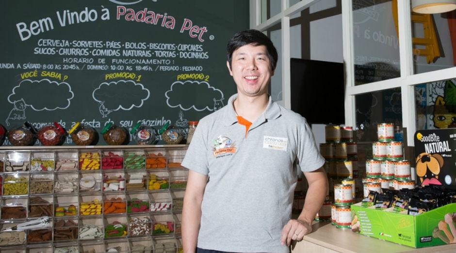 Rodrigo Chen, da Padaria Pet: conceito do negócio foi trazido dos Estados Unidos (Foto: Patrícia Cruz)