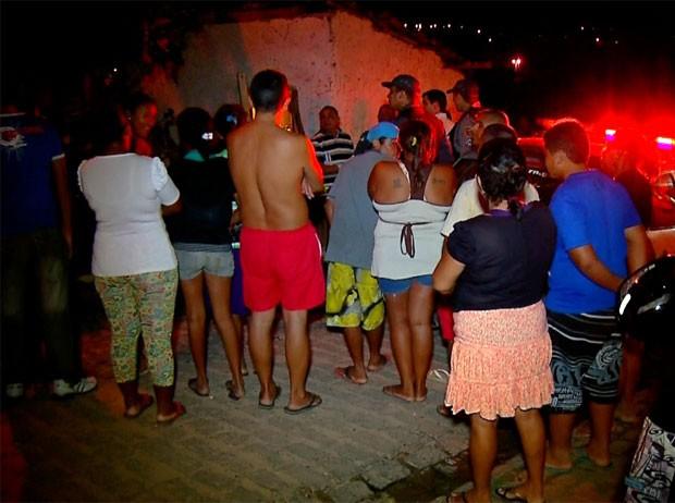 Crime chocou os moradores do Guarapes, na zona Oeste de Natal  (Foto: Reprodução/Inter TV Cabugi)