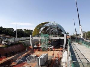 Resultado de imagem para Obras metrô Lauro de Freitas