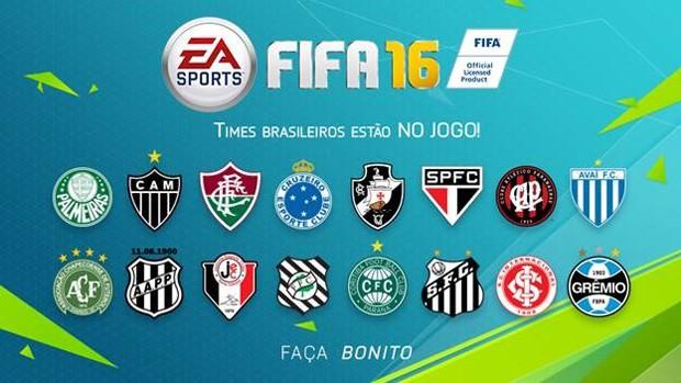 'Fifa 16' terá 16 equipes brasileiras. Corinthians e Flamengo só aparecem no rival 'PES 2016' (Foto: Divulgação/Electronic Arts)
