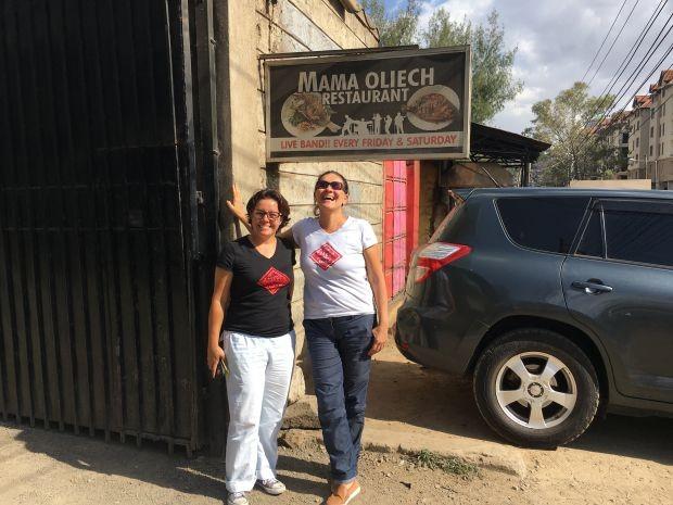 Fernanda Moura e Taciana Mello em Nairóbi (Foto: THE GIRLS ON THE ROAD)