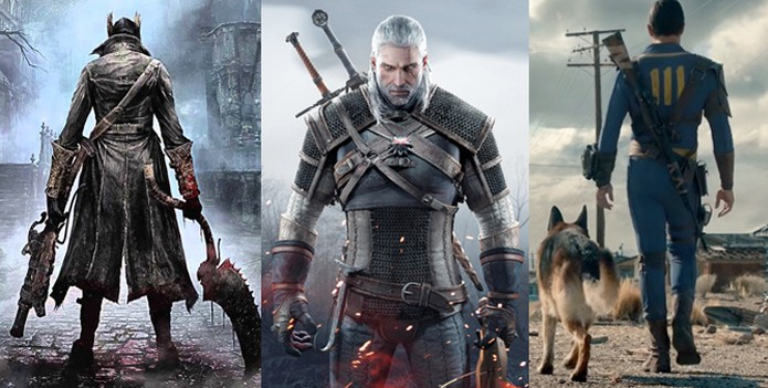 Bloodborne, The Witcher 3 e Fallout 4 foram eleitos os melhores jogos de 2015 pelo TechTudo (Foto: Reprodução / TechTudo)