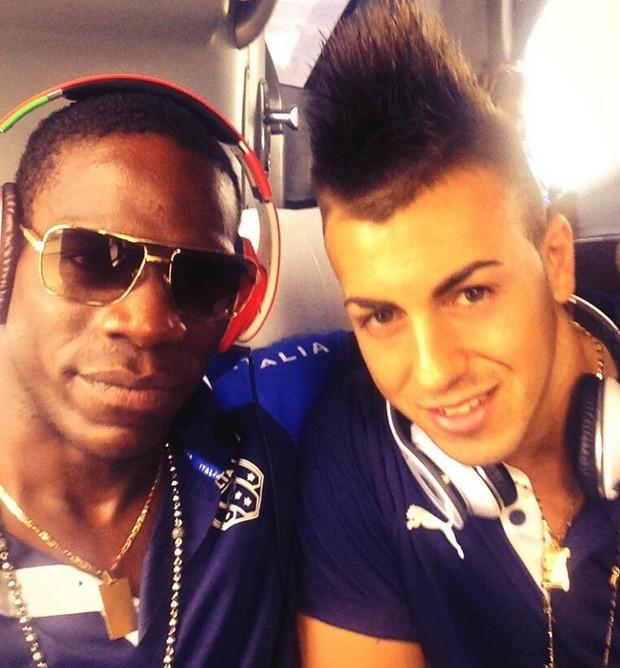 Balotelli e El Sharaawy (Foto: Reprodução / Instagram)