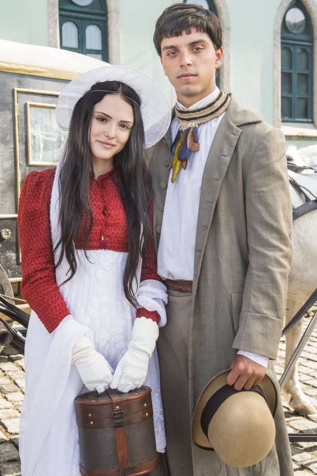 Isabelle Drummond será a personagem Anna Millman, uma professora de português da corte austríaca, na novela Mundo Novo, que estreiano próximo dia 22 ás 18h na Globo (Foto: TV Globo/Divulgação)