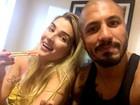 Ex-BBB Fernando janta com Aline: 'Com a patroa'
