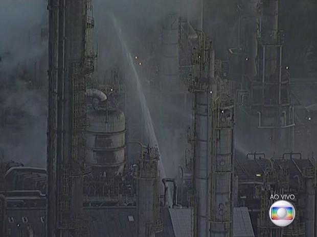 Unidade industrial fica entre Mauá e Santo André, no ABC (Foto: Reprodução/TV Globo)