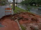 Chove forte na região de Bauru e causa alagamentos