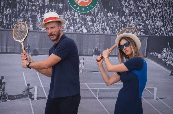 Fernanda Lima e Rodrigo Hilbert assistem à final de Roland Garros 2017 (Foto: Reprodução/Instagram)
