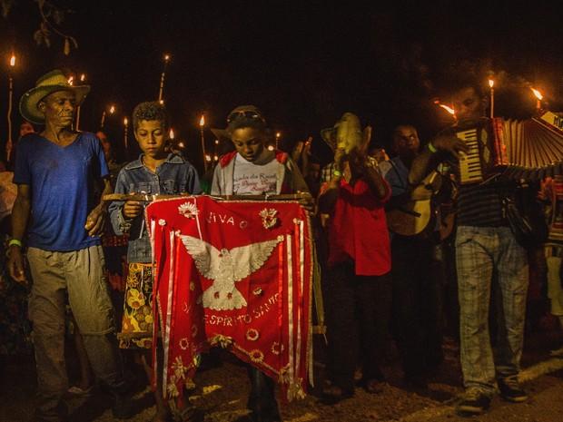 Comunidade Kalunga participa do Encontro de Culturas Tradicionais da Chapada dos Veadeiros em Alto Paraíso de Goiás (Foto: Anne Vilela/Divulgação)