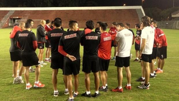 Tijuana treina no Corinthians (Foto: Divulgação / Corinthians)