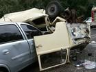 Acidente com dois carros, uma kombi e um ônibus deixa cinco feridos no PR