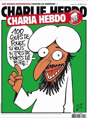 """""""100 chibatadas se você não morrer de rir"""", dizia a capa da edição nº 1011 da Charlie Hebdo de novembro de 2011, feita pelo cartunista Luz (Foto: Reprodução/Charlie Hebdo)"""