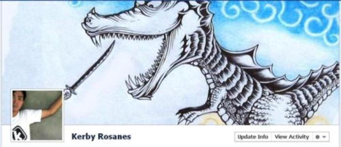 A foto de capa interage com a foto do perfil (Foto: Reprodução/ShoutMeLoud)