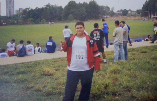 Alain esteve acima do peso durante toda a adolescência (Foto: Arquivo pessoal)