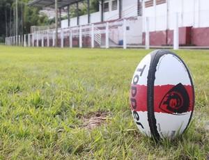 Bola de rúgbi Campo Campo das Vertentes (Foto: Luciano Nascimento / Arquivo Pessoal)