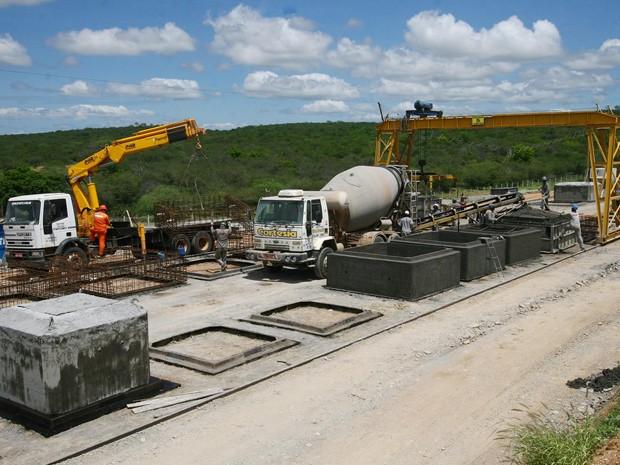 Canteiros de obras das Ferrovia Oeste-Leste nas cidades de Ubatã, Jequié, Tanhaçu e Brumado (Foto: Alberto Coutinho/GOVBA)