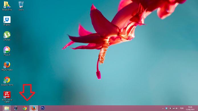 Programas fixados na barra de tarefas do Windows 8 (Foto: Reprodução/Lívia Dâmaso)