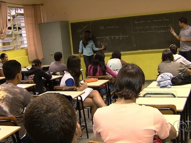 Escola municipal em Goiânia, Goiás (Foto: Reprodução/TV Anhanguera)