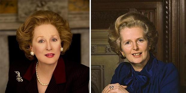 Meryl Streep e Margaret Thatcher (Foto: Divulgação)
