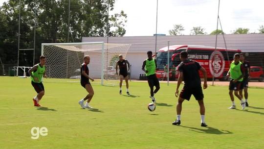 """Anunciado pelo Inter, Alemão treina com bola e ganha incentivo: """"Boa"""""""