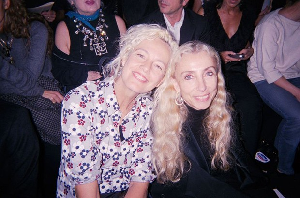 With photographer Ellen von Unworth (Foto: Suzy Menkes)