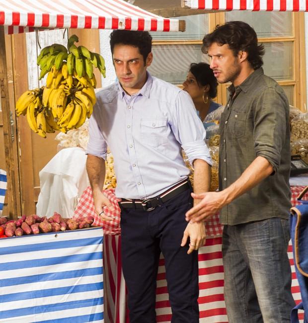 João Baldasserini e Nando Rodrigues em cena de 'Haja Coração' (Foto: Divulgação/TV Globo)