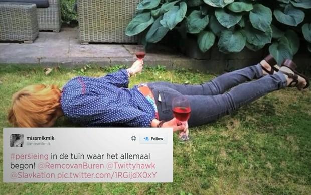 'Voo de Van Persie' viralizou no Twitter após golaço na Copa do Mundo (Foto: BBC)