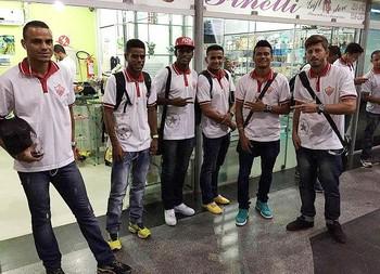 Jogadores do Rio Branco-AC embarcam para Porto Velho para estreia na Copa Verde (Foto: Divulgação/Rio Branco FC)