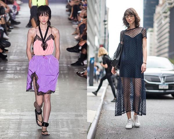 Roupas inspiradas nas lingeries apareceram na Alexander Wang e se destacam pelo lado sexy (Foto: Imaxtree)