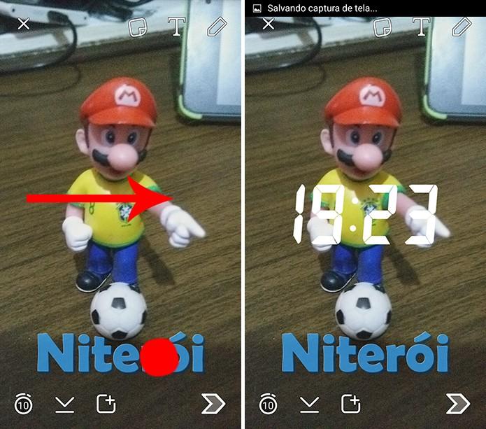 Snapchat pode ter mais de um filtro adicionado pelo usuário (Foto: Reprodução/Elson de Souza)