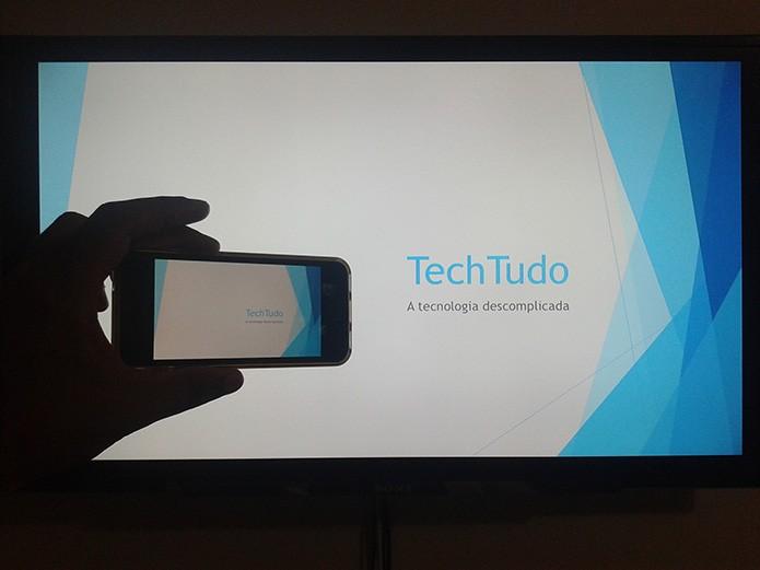 Como realizar apresentações multimídia utilizando um iPhone e uma Apple TV? (Foto: Marvin Costa/TechTudo)