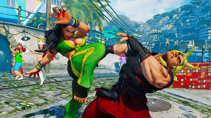 Cenário do Brasil traz as lutas de Street Fighter V ao Rio de Janeiro (Foto: Divulgação/Capcom)