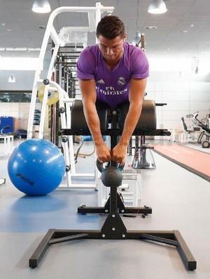 Cristiano Ronaldo treino Real Madrid (Foto: Divulgação/Site oficial do Real)
