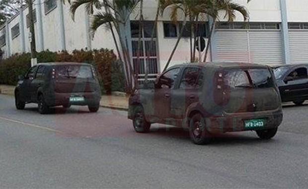 Novo Fiat Uno é flagrado em testes em Paraisópolis (MG) (Foto: Leonardo Pires/Autoesporte)