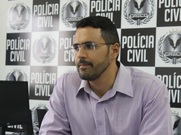 Delegado Kleidson Ferreira, do Greco, acompanha o caso  (Foto: Fernando Brito/G1)