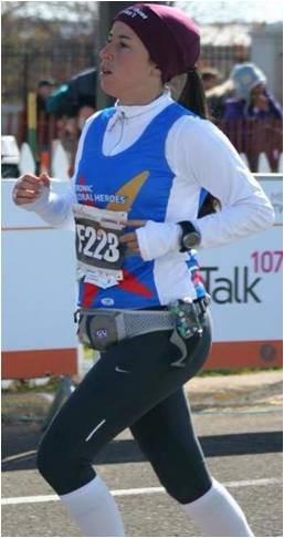 Gabriela Arantes, portadora de diabetes,  na Maratona Twin Cities nos Estados Unidos - Eu Atleta  (Foto: Arquivo Pessoal)